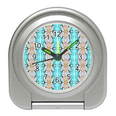 Seamless Wallpaper Pattern Ornament Travel Alarm Clock