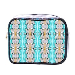 Seamless Wallpaper Pattern Ornament Mini Toiletries Bag (one Side)