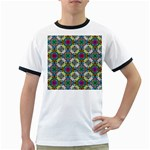 Seamless Pattern Decoration Ringer T Front