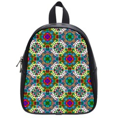 Seamless Pattern Decoration School Bag (small)