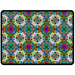 Seamless Pattern Decoration Double Sided Fleece Blanket (large)
