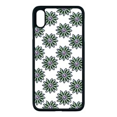 Graphic Pattern Flowers Iphone Xs Max Seamless Case (black) by Pakrebo