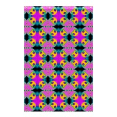 Seamless Wallpaper Pattern Ornament Pink Yellow Shower Curtain 48  X 72  (small)