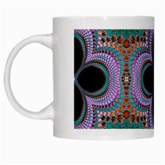 Seamless Wallpaper Pattern Ornament Art Pattern White Mugs
