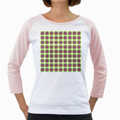 Seamless Geometric Blur Lines Girly Raglan