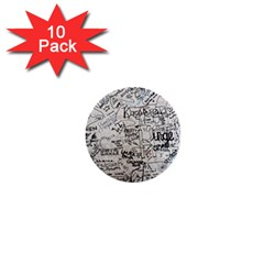 Messages Note Notitiebord Memo 1  Mini Buttons (10 Pack)