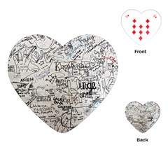 Messages Note Notitiebord Memo Playing Cards Single Design (heart)