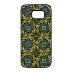 Seamless Wallpaper Digital Art Samsung Galaxy S7 Edge Black Seamless Case