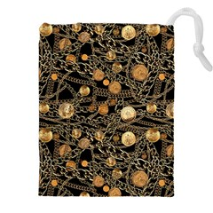 Chains Glam Pattern Drawstring Pouch (xxxl) by tarastyle