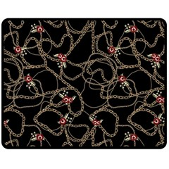 Chains Glam Pattern Fleece Blanket (medium)  by tarastyle
