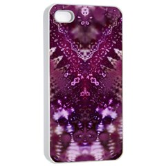 Pink Fractal Lace Iphone 4/4s Seamless Case (white) by KirstenStar