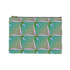Seamless Pattern Ornament Design Cosmetic Bag (large)