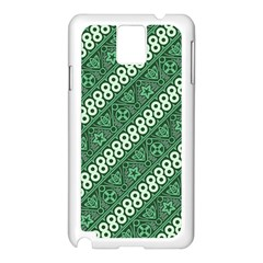 Batik Pattern Java Indonesia Samsung Galaxy Note 3 N9005 Case (white) by Pakrebo
