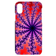 Fractal Abstract Background Spiral Iphone X/xs Black Uv Print Case