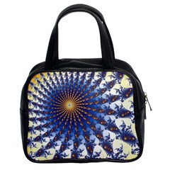 Fractal Spiral Curve Abstraction Classic Handbag (two Sides)