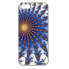 Fractal Spiral Curve Abstraction Apple Seamless Iphone 5 Case (clear)