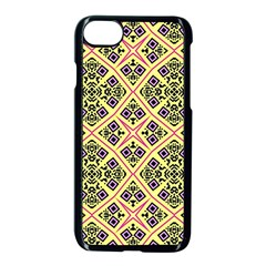 Seamless Wallpaper Geometric Yellow Iphone 8 Seamless Case (black)