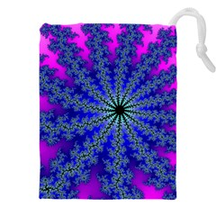 Fractal Abstract Background Digital Drawstring Pouch (xxxl)