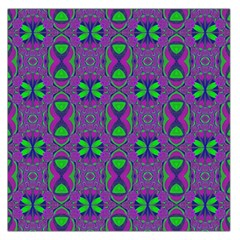 Seamless Wallpaper Pattern Ornament Green Purple Large Satin Scarf (square)