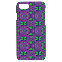 Seamless Wallpaper Pattern Ornament Green Purple Iphone 7/8 Black Uv Print Case