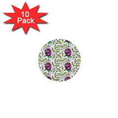 Default Texture Background Floral 1  Mini Buttons (10 Pack)