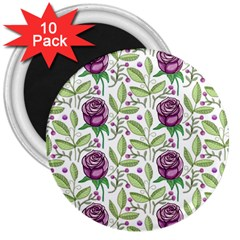 Default Texture Background Floral 3  Magnets (10 Pack)  by Pakrebo