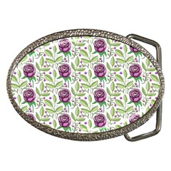 Default Texture Background Floral Belt Buckles by Pakrebo