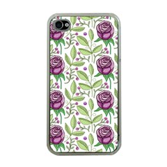 Default Texture Background Floral Iphone 4 Case (clear) by Pakrebo