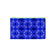 Seamless Fractal Blue Wallpaper Cosmetic Bag (xs)