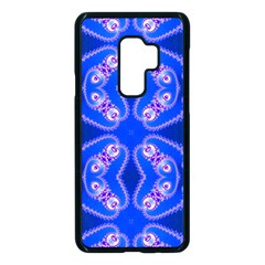 Seamless Fractal Blue Wallpaper Samsung Galaxy S9 Plus Seamless Case(black) by Pakrebo