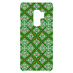 Symmetry Digital Art Pattern Green Samsung S9 Plus Black Uv Print Case by Pakrebo
