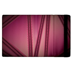 Background Pink Pattern Apple Ipad 2 Flip Case by Pakrebo