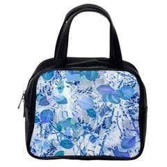 Cyan Floral Print Classic Handbag (one Side) by dflcprintsclothing