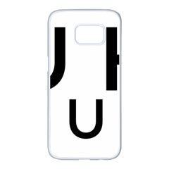 Uh Duh Samsung Galaxy S7 Edge White Seamless Case by FattysMerch