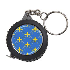 Aircraft Texture Blue Yellow Measuring Tape