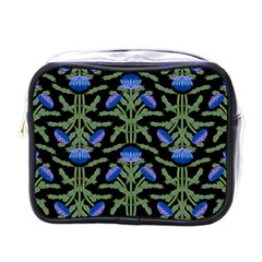 Pattern Thistle Structure Texture Mini Toiletries Bag (one Side)