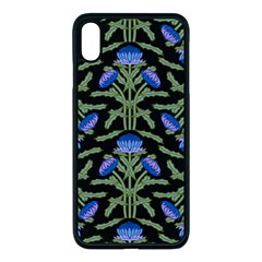 Pattern Thistle Structure Texture Iphone Xs Max Seamless Case (black) by Pakrebo