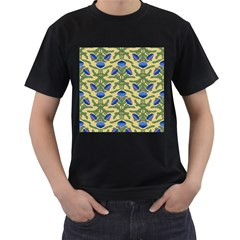 Pattern Thistle Structure Texture Men s T Shirt (black) (two Sided)