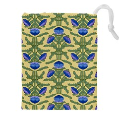 Pattern Thistle Structure Texture Drawstring Pouch (xxxl)