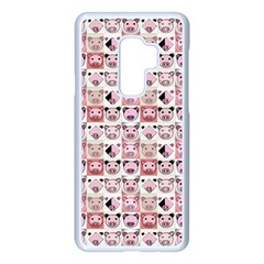 Graphic Seamless Pattern Pig Samsung Galaxy S9 Plus Seamless Case(white) by Pakrebo