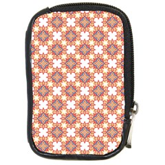 Pattern Flowers Flower Pattern Compact Camera Leather Case