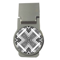 Pattern Tile Repeating Geometric Money Clips (round)