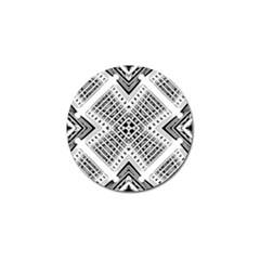 Pattern Tile Repeating Geometric Golf Ball Marker
