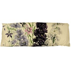 Botanical Print Antique Floral Body Pillow Case Dakimakura (two Sides)