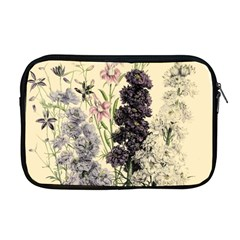Botanical Print Antique Floral Apple Macbook Pro 17  Zipper Case