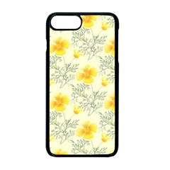Floral Background Scrapbooking Yellow Iphone 7 Plus Seamless Case (black)