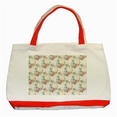 Floral Pattern Scrapbook Decorative Classic Tote Bag (red)