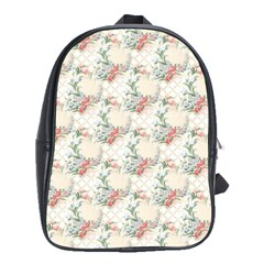 Floral Pattern Scrapbook Decorative School Bag (large)
