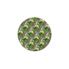 Leaves Seamless Pattern Design Golf Ball Marker (4 Pack)