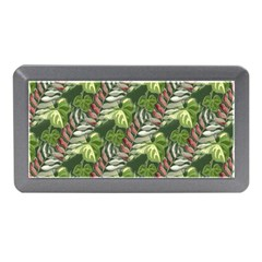 Leaves Seamless Pattern Design Memory Card Reader (mini) by Pakrebo